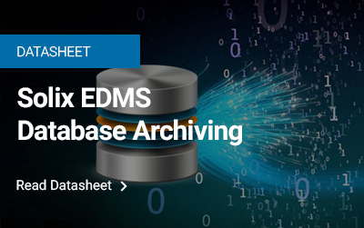 Solix EDMS Database Archiving