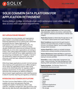 Solix Common Data Platform for Application Retirement