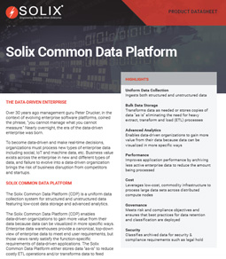 Solix Common Data Platform (Solix CDP)