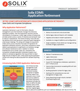 Solix EDMS Application Retirement