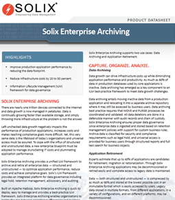 Solix Enterprise Archiving