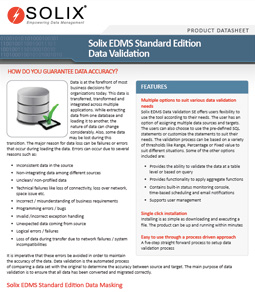 Solix Enterprise Data Management Suite - Standard Edition Data Validation