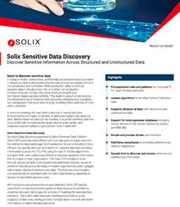 Solix Sensitive Data Discovery