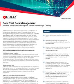 Solix Test Data Management