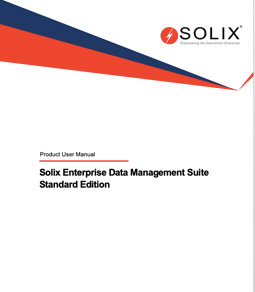 Solix Enterprise Data Management Suite Standard Edition Product User Manual