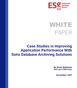 Case Studies in Improving Application Performance With Solix Database Archiving Solutions
