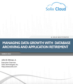 Managing Data Growth with Database Archiving and Application Retirement