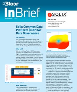 Solix Common Data Platform for Data Governance