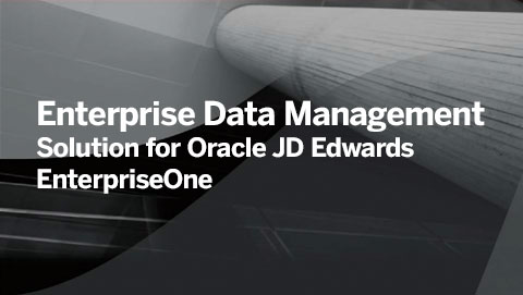 Enterprise Data Management Solution for Oracle JD Edwards EnterpriseOne