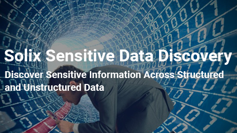 Solix Sensitive Data Discovery