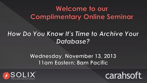 How do you know it's time to archive your database?