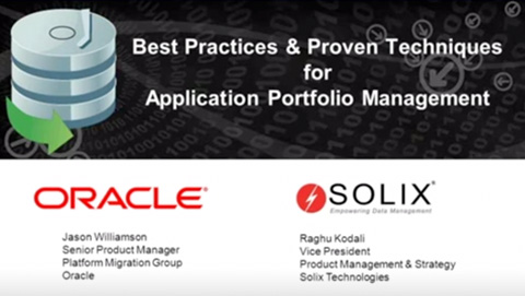 Best Practices and Proven Techniques for Application Portfolio Management