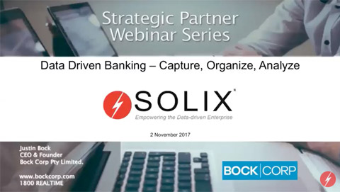 Strategic Partner Series Data Driven Banking Solix
