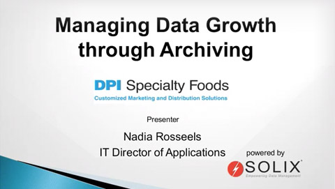 DPI Specialty Foods Conquers Oracle E Business Suite Data Growth Performance Issues