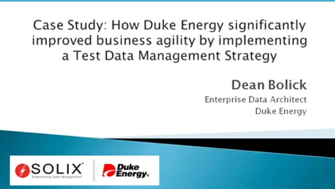 How Duke Energy improved business agility with a test data management solution