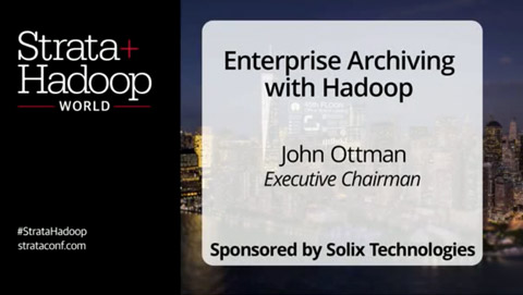 Enterprise Archiving With Hadoop