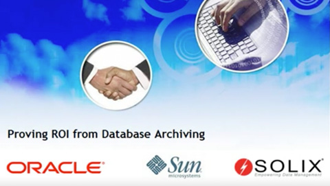 Proving ROI from Database Archiving