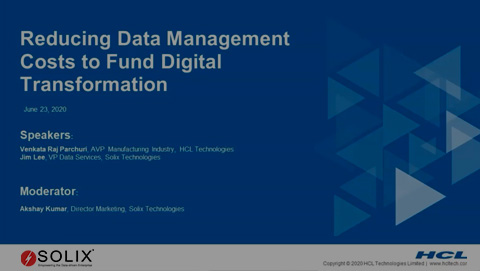 Reducing IT Data Management Costs To Fund Digital Transformation
