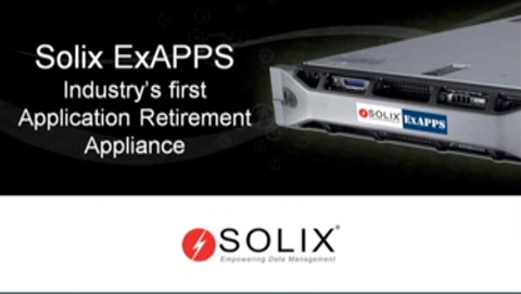A look into industry's first Application Retirement Appliance – Solix ExAPPS