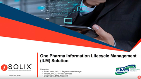 The One Pharma-Information Lifecycle Management Solution (ILM)