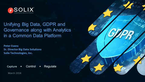 Unifying Big Data, GDPR and Governance along with Analytics in a Common Data Platform