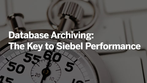 Database Archiving: The Key to Siebel Performance