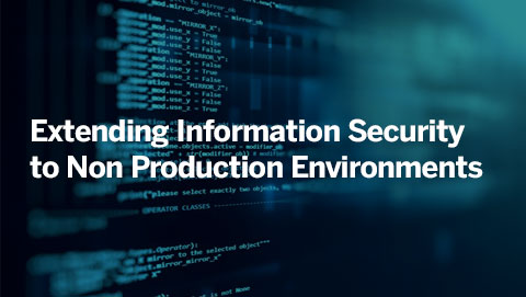 Extending Information Security to Non Production Environments